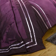 Buy a Sherringham Throw in Aubergine from Litecraft, Features a Ribbon Trim, Free UK Delivery! Bright Purple, Color Combinations, Color Combos, Colour Combinations, Colour Schemes