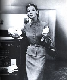 1950's skirt suit - Cass visiting office