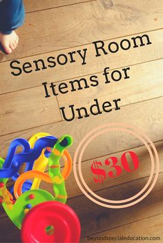 Looking for budget friendly sensory room items? Well look no further. Here is a list of must have sensory room items for under $30.