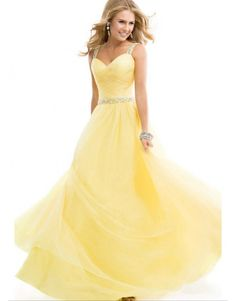 Prom Dresses 2014 prom dress tulle ball gown with jeweled straps yellow open back , You will find many long prom dresses and gowns from the top formal dress designers and all the dresses are custom made with high quality Tulle Ball Gown, Ball Gowns Prom, Tulle Prom Dress, Ball Gown Dresses, Evening Dresses, Dress Up, Party Dress, Chiffon Dress, Gown Skirt