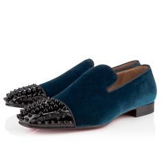 Christian Louboutin Mens Loafer Peacock Velvet