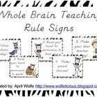 Whole Brain Teaching Rule Posters.One poster for each rule. Print on regular printer paper and then laminate.  ...