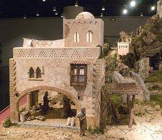 Disney Christmas Village, Christmas Crib Ideas, Christmas Nativity Scene, Christmas Villages, Nativity House, Diy Nativity, Fontanini Nativity, Modelos 3d, Ceramic Houses