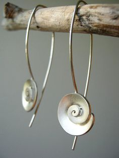 Nautilus is one of the biggest inspirations for me to feed my spiral addiction! Here I am offering a pair of earrings that I had custom made for one of my lovely customers a while ago. Oh I loved them!!! I am sure you will love them too! Use them as everyday jewelry or wear them on a