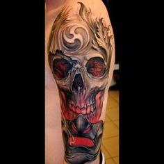 Done by Johan Finné, tattoo artist at Evil Twins Heavenly Tattoo Studio (Helsingborg),