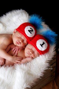 2 baby boy girl knitted beanie twin by PreciousLittleBaby on Etsy, $43.99