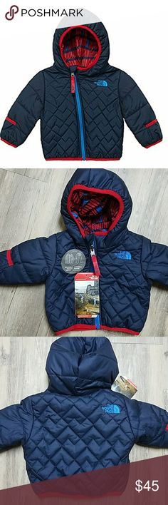 🌟HP🌟 The North Face Baby Reversible Perrito coat 🌟HP🌟 Everything Kids 6/4/17 Reversible, insulated winter jacketBinding on cuffs, hem and hood openingEmbroidered logo on front and back of outer and front of reverseAsymmetrical front zipContains 100% recycled content North Face Jackets & Coats Puffers
