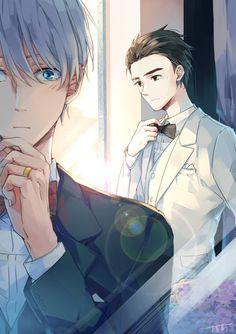 Russian husbando looks blown away by Yuri, heh