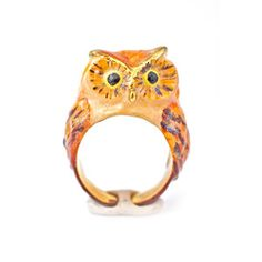 Golden Princess Owl Ring, $118, now featured on Fab.