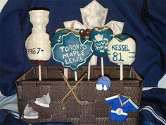 Toronto Maple Leaf Hockey Cake Pops