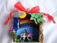 Mini-Diorama mit Fahrrad - mini diorama with bicycle