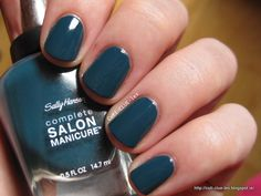 My all-time favorite color    Sally Hansen Complete Salon Manicure #674 Jungle Gem nail polish swatch