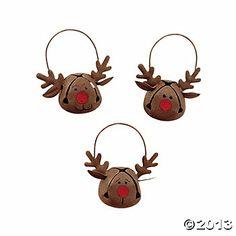 Jingle Bell Reindeer Ornaments pcs) - Click Image to Close Easy Christmas Ornaments, Reindeer Ornaments, Reindeer Christmas, Christmas Ornaments To Make, Diy Ornaments, Christmas Bells, Diy Christmas Gifts, Christmas Decorations, Christmas Carol