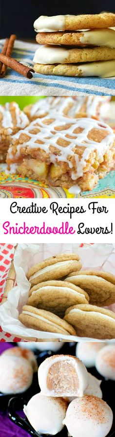 If you love snickerdoodles, you NEED these recipes!  Thanksgiving Desserts  Christmas Desserts