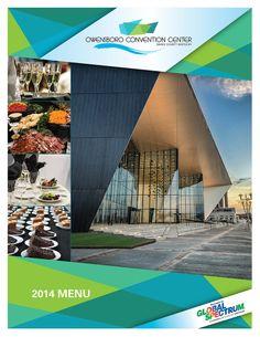 Owensboro Convention Center menu cover design.