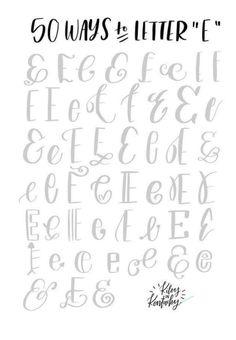 Hand Lettering 101, Brush Lettering Worksheet, Hand Lettering Practice, Doodle Lettering, Creative Lettering, Lettering Tutorial, Lettering Styles, Cute Fonts Alphabet, Calligraphy Fonts Alphabet