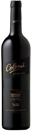 Wine Wise Greenwich Bodega Colome Malbec Reserva 2007