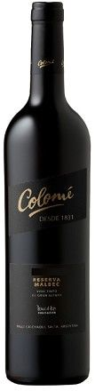 Wine Wise Greenwich Bodega Colome Malbec Reserva 2007