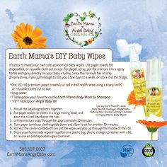 Making homemade baby wipes takes just a few minutes of work and saves loads of money. You can make them with cloth, so they are reusable, or with paper towels if you need disposables.