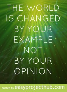 Our example...  How are you setting a positives example for those around you? http://justiceplusfreedom.com/