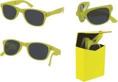 sizzle shades foldable sunglasses - yellow Case of 20