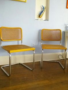 Marcel Breuer B32 Cesca Chairs $600 - Branford http://furnishly.com/catalog/product/view/id/3885/s/marcel-breuer-b32-cesca-chairs/