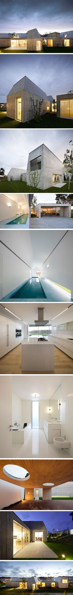 I adore this home/art studio in Ovar by Portuguese architect, Paula Santos.