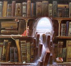 Books... Portals to other worlds.   // Help! The books are getting wet!