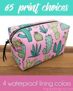 Makeup Bags | Cosmetic Bags | Toiletry Bags | Bridesmaids Gifts | Makeup Organizers | Cute Makeup Bags | Box Bags | Cactus | Donuts | Pineapple | French Bulldogs | Palms | Flamingos | Watermelon