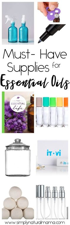 Are you looking to become more successful at implementing essential oils into your daily life? Trust me then, you really need to read this post! It is full of amazing must-have supplies that'll make you an essential oil success in no time! via @simplynaturalma