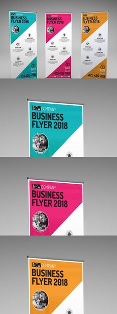 Corporate Business, Banner Template, Layout, Templates, Free, Stencils, Page Layout, Vorlage, Models