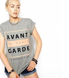 ASOS T-Shirt with Avant Garde Print ($26) // #fashionforward #style