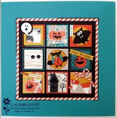 Halloween Punch Art and framed sampler Halloween Punch, Halloween Cards, Fall Halloween, Halloween Scrapbook, Halloween Stuff, Scrapbooking, Scrapbook Cards, Fall Cards, Holiday Cards