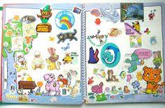 Sticker books = 80's scrapbooking. I had this exact sticker book!