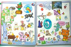 Sticker books = 80's scrapbooking