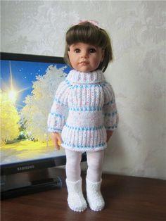 Теплые платья и джемпер для кукол Готц / Одежда для кукол / Шопик. Продать купить куклу / Бэйбики. Куклы фото. Одежда для кукол