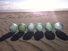Japanese Glass Fishing Floats - Collection of 6, Frosted, Alaska Beachcombed, Three Marked on Etsy, $94.99