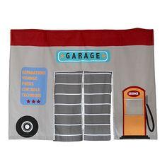 Circuit Tente de lit mi-haut pour enfant - Thème garage Garage, Circuit, Decoration, Couture, Bed Tent, Child Room, Loft Beds, Carport Garage, Decor
