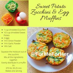 80 Day Obsession Sweet Potato, Zucchini and Egg muffins Good for Pre or post workout meal.