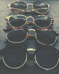 Hipster sunglasses.
