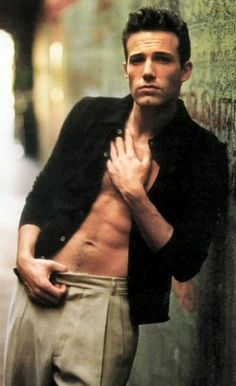 young ben affleck. I used to be all about this. not ashamed to say i was obsessed with this man!