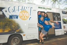 """Adam Barth of Jacksonville spent the first week in August with three other young professionals """"Rollin' with Rotary."""" The quartet"""