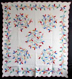 Antique 1930 Lancaster Co PA Autumn Leaf Quilt | eBay