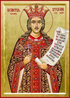 Stephen the Great of Moldova Russian Orthodox icon Saint Stephen, Religious Paintings, Russian Orthodox, Moldova, I Icon, Orthodox Icons, Saints, Religion, Princess Zelda