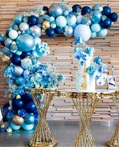 Image may contain: indoor Deco Baby Shower, Boy Baby Shower Themes, Baby Shower Balloons, Baby Boy Shower, Balloon Columns, Balloon Arch, Balloon Garland, Birthday Balloon Decorations, Birthday Balloons