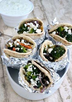 Homemade Vegetable Gyros