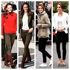 """La duquesa de Cambridge hace """"switch"""" de algunas prendas para diferentes eventos el mismo día y así logra un cambio de look, siempre impecable. #moda #realeza #casuallook #streetstyle #royalty #vanidades"""