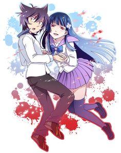 sankarea anime manga kawaii cute girl x boy love liebe Anime Zombie, Anime Cat, Kawaii Anime, Manga Anime, I Love Anime, Awesome Anime, All Anime, Neko Boy, Otaku