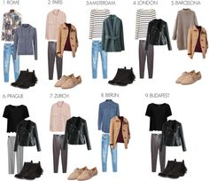 Travel Outfit for Europe: Autumn has weather for each country