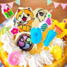 久しぶりのキャラデコ⭐️ちょっと失敗…f^_^;) - 12件のもぐもぐ - 妖怪ウォッチ!チーズケーキ by kounongunp8HD
